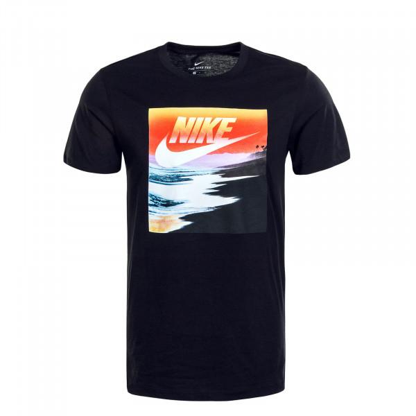 Herren T-Shirt Summer Photo Black