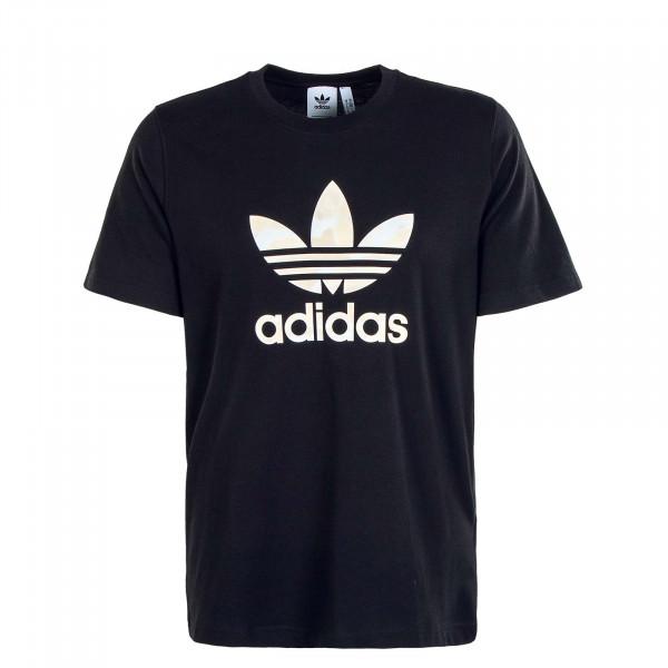 Herren T-Shirt - Camouflage Infill GN1856 - Black  / Alumin