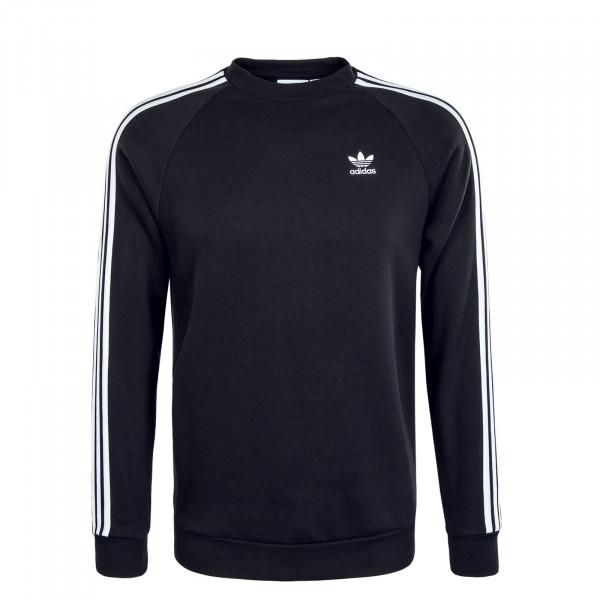 Herren Sweat - 3 Stripes Crewneck - Black / White