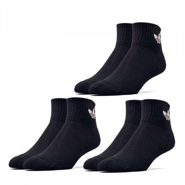 Socken 3er Pack - Mid Ankle - Black