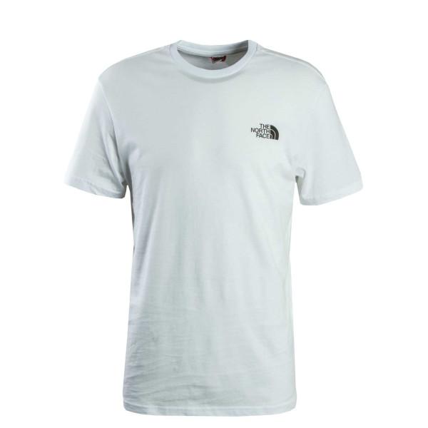 Herren T-Shirt Simple Dome White
