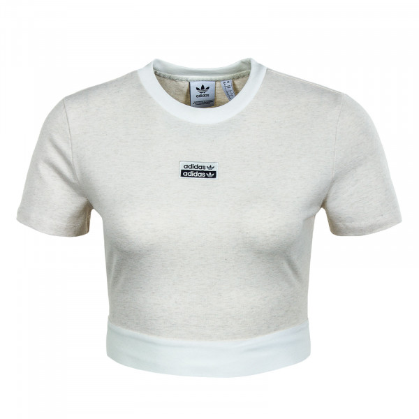 Damen T-Shirt - Cropped - Off White