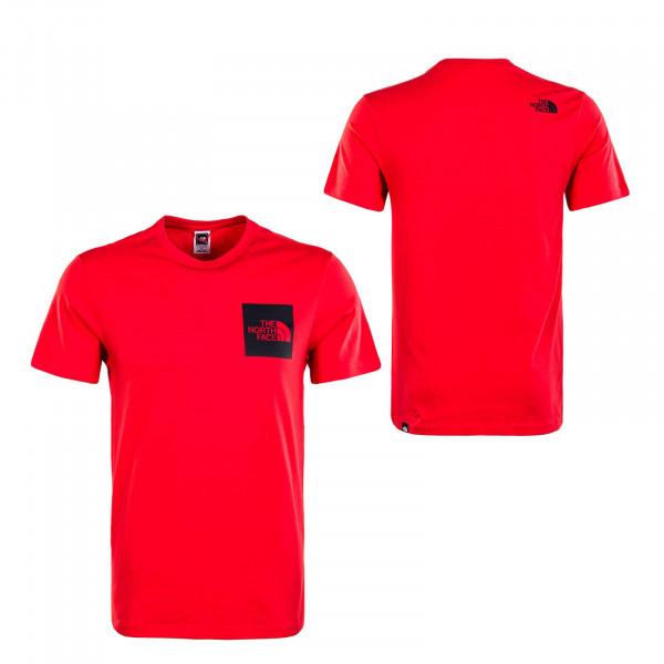 Herren T-Shirt - Fine Horizon - Red / Black