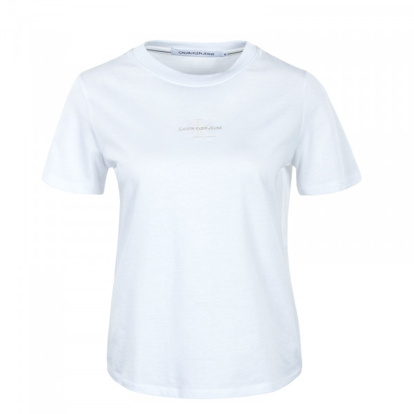 Damen T-Shirt - Monogram Logo Tee - Bright White