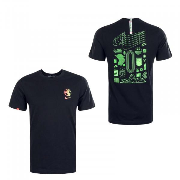 Herren T-Shirt Worldwide Globe Black