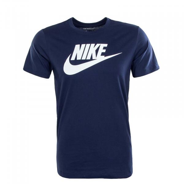 Herren T-Shirt NSW Icon Futura Navy White