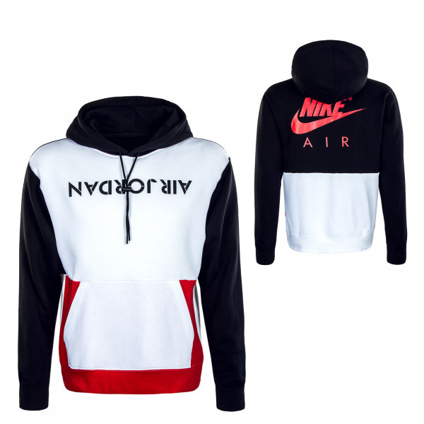 Herren Hoody - AJ4 Graphic - White / Black / Red