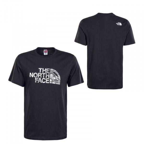 Herren T-Shirt Wood Dome - Black / White