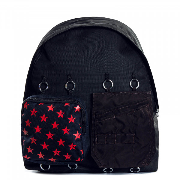 Rucksack R.S. Black Navy Red Star