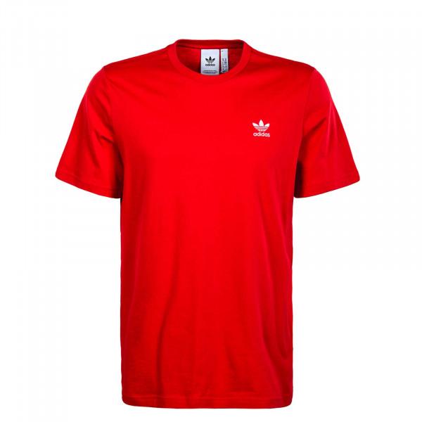 Herren T-Shirt Essential 3408 - Scarlet / White