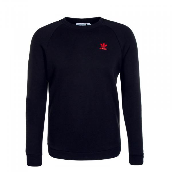 Herren Pullover - Sweat Essential Crewneck - Black Scarlet