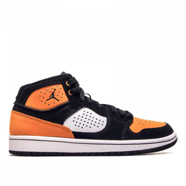 Damen Sneaker Access Black White Orange