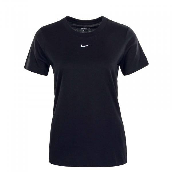Damen T-Shirt Essential Crew Black White