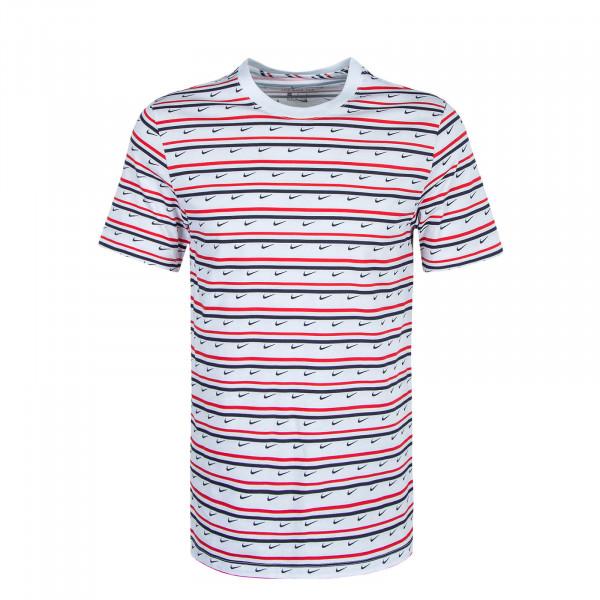 Herren T-Shirt Club Stripe CV9867 White Red