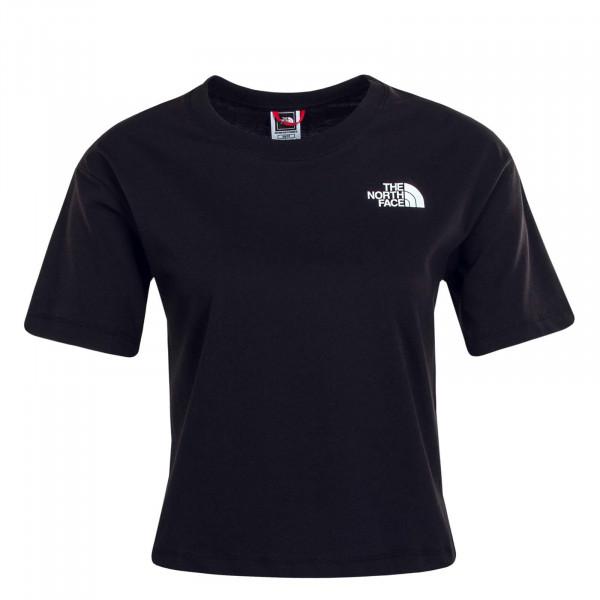 Damen T-Shirt Cropped SD Black