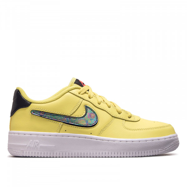Damen Sneaker Air Force 1 LV8 3 GS Yellow White