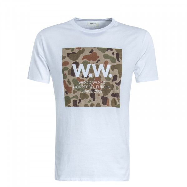 Herren T-Shirt Square White Camouflage