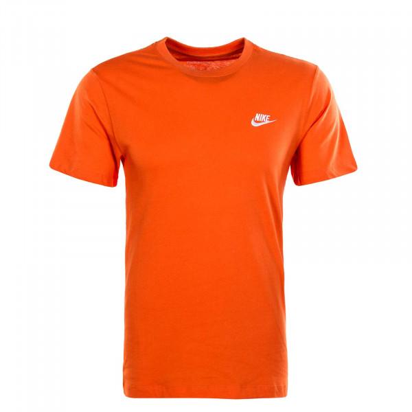 Herren T-Shirt NSW Club Elctro White