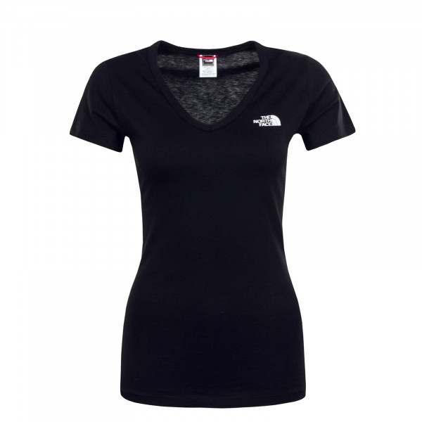 Damen T-Shirt Simple Dome Black