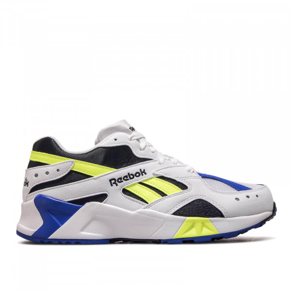 Reebok Aztrek White Black Cobalt Yellow