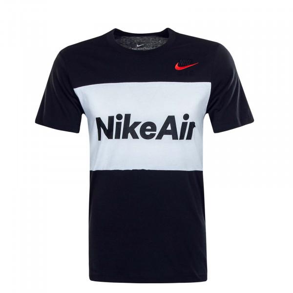 Herren T-Shirt NSW Air Black White