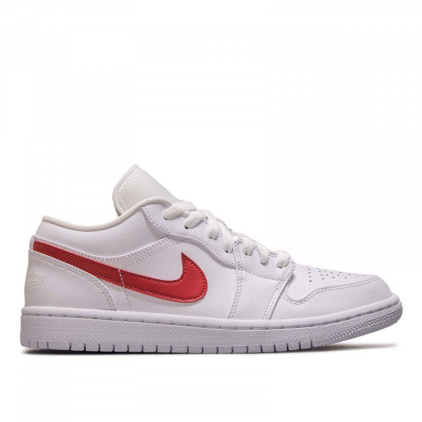 Damen Sneaker Air Jordan 1 Low White Red