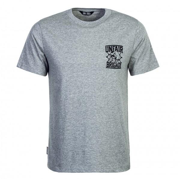 Unfair T-Shirt Brigade Grey Black