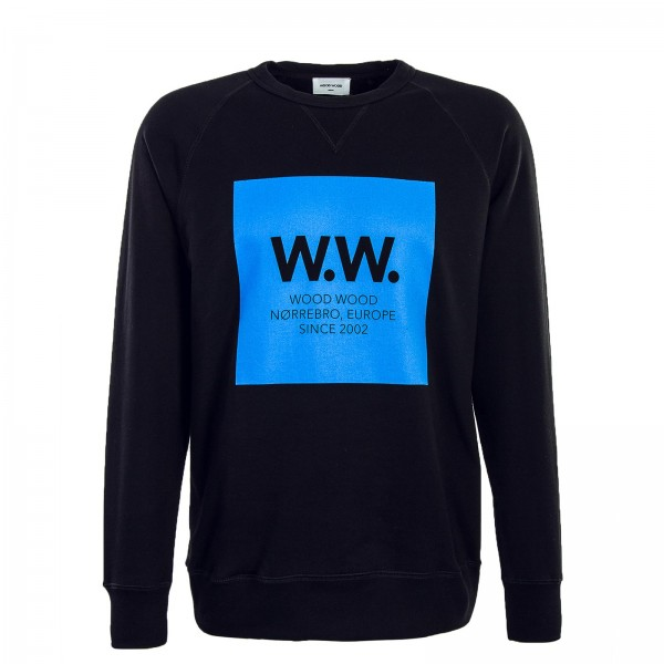 Wood Wood Sweat Hester Black Blue