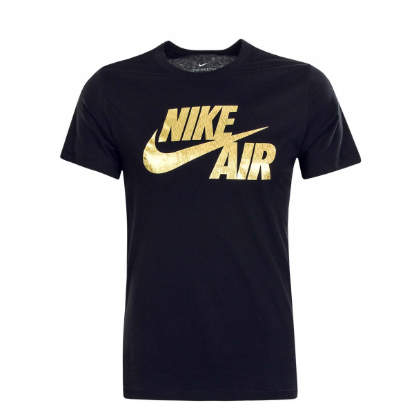 Herren T-Shirt NSW Preheat Nike Black Gold Foil