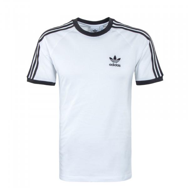 Herren T-Shirt - 3 Stripes - White / Black