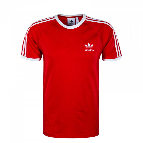 Herren T-Shirt 3 Stripes Tee Scarlet White