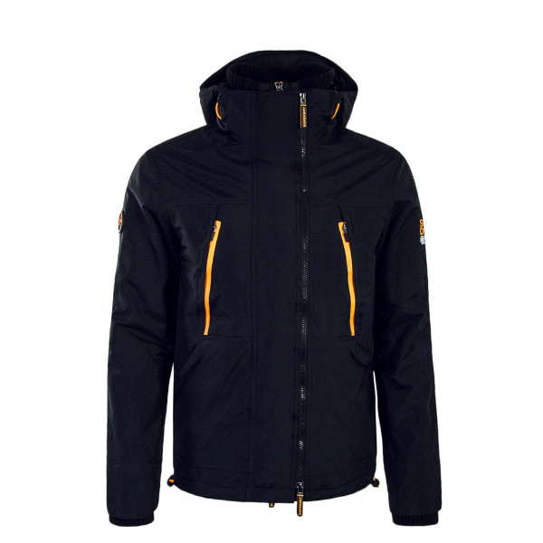 Superdry Jkt Hooded Polar Black Orange