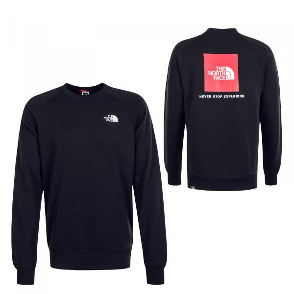 Herren Sweatshirt Crew Rag Redbox Black