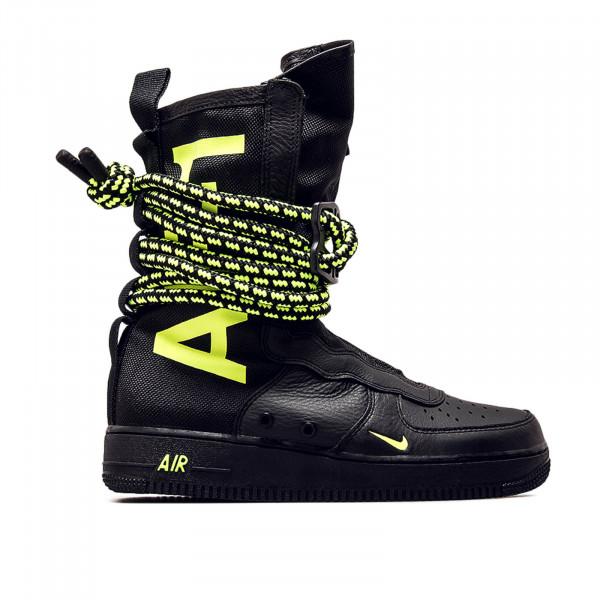Nike U SF AF1 HI Black Neo Green