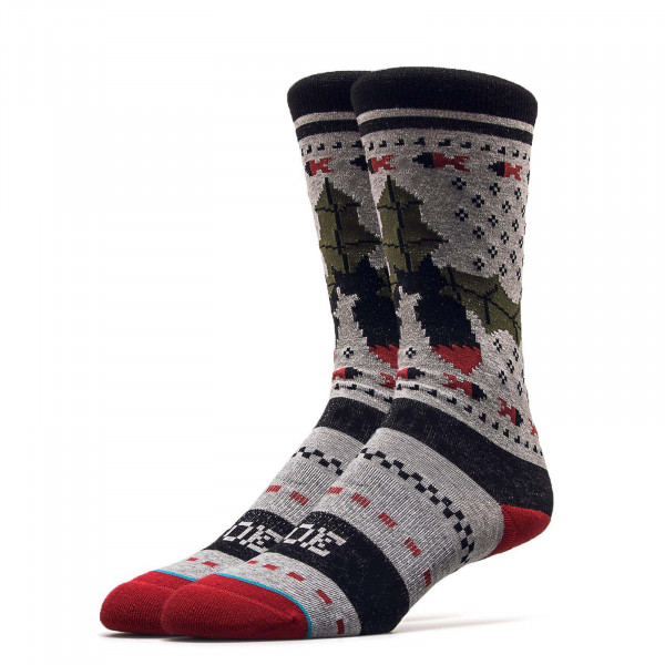 Stance Socks Missle Grey Red Black