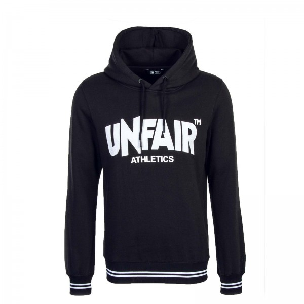 Unfair Hoody Classic Label Black White