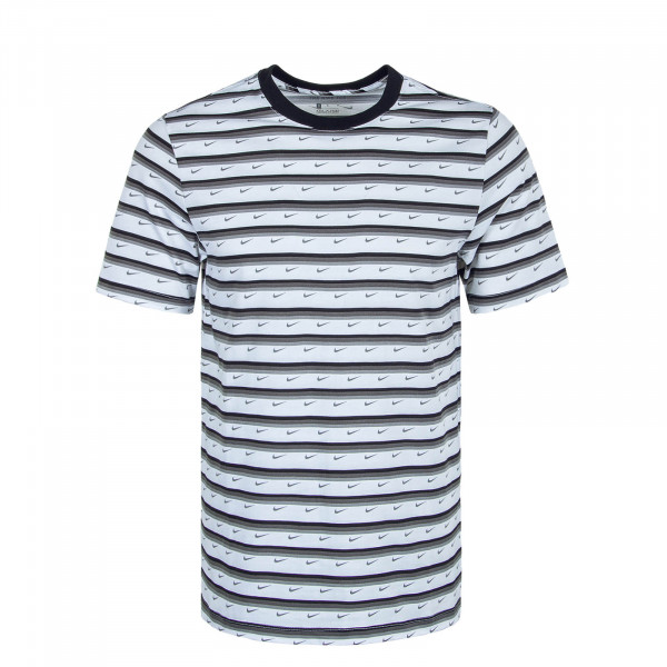 Herren T-Shirt Club Stripe CV9867 White Black