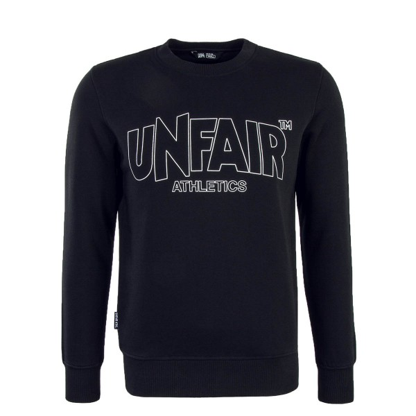 Unfair Sweat Classic Label Outline Black