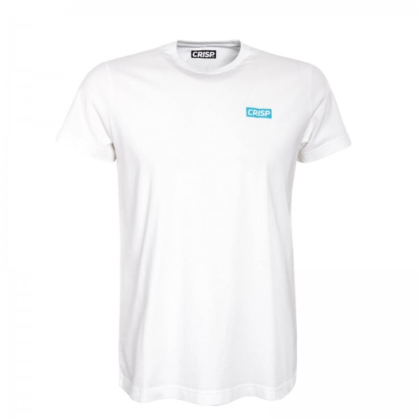 Crisp TS Small Print White Blue