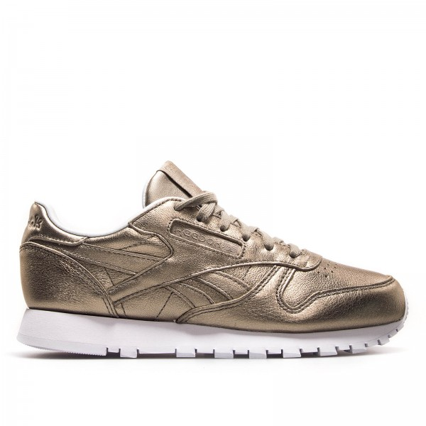 Reebok Wmn CL Lth Melted Metal Gold