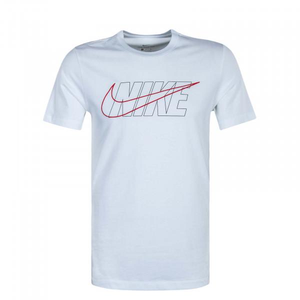 Herren T-Shirt  NSW Tee BLK + SWSH White Black Red