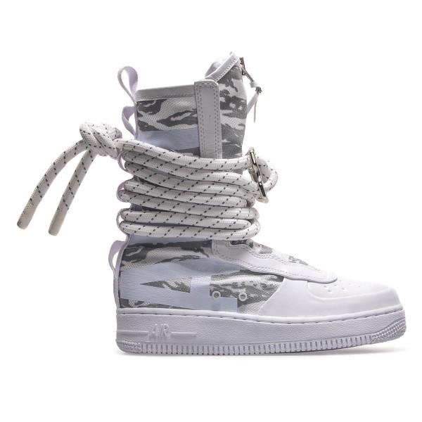 Nike U SF AF1 HI PRM White Grey