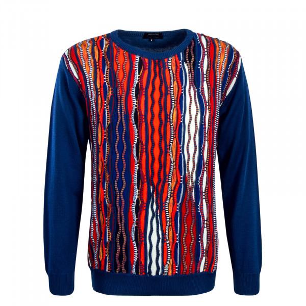 Herren Knit C7805 Blue Red