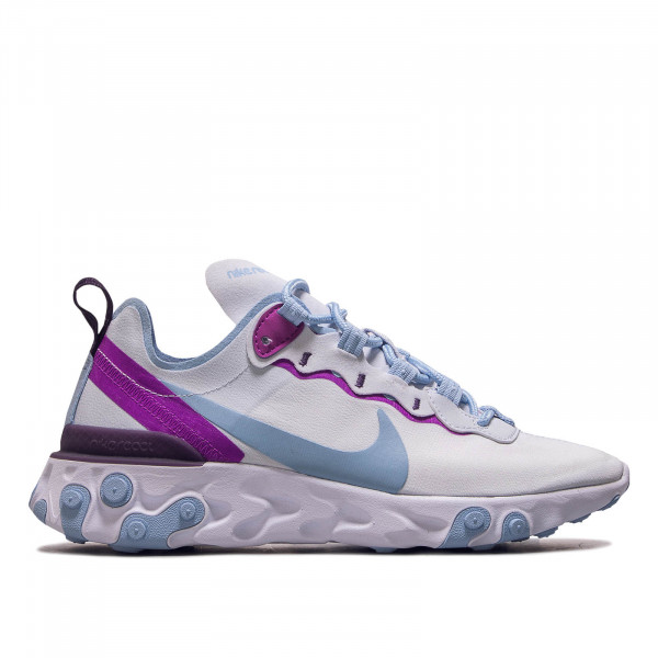 Damen Sneaker React Element 55 Grey Blue Plum