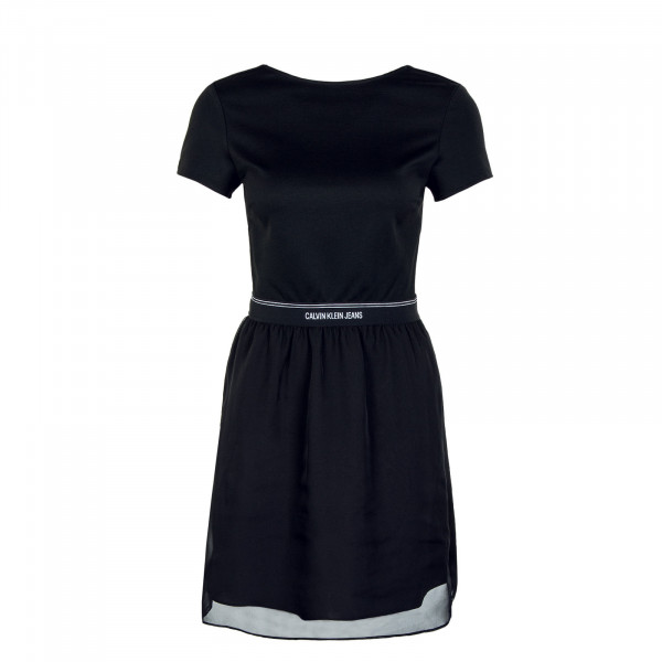 Damen Kleid - Logo Waistband Dress - Black / Black