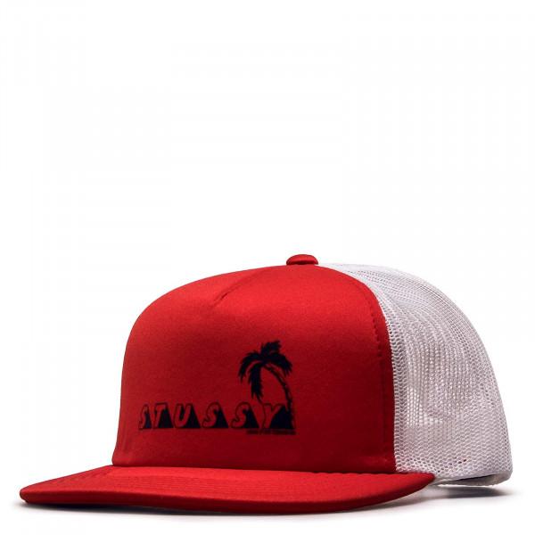 Stüssy Cap Trucker Psycho Tropics Red