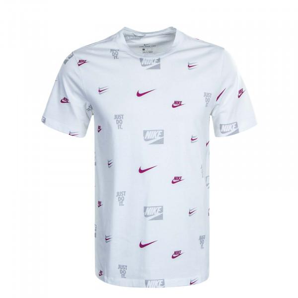 Herren T-Shirt Core AOP CV8962 White