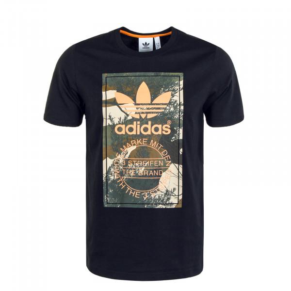 Herren T-Shirt Camouflage Tongue Black