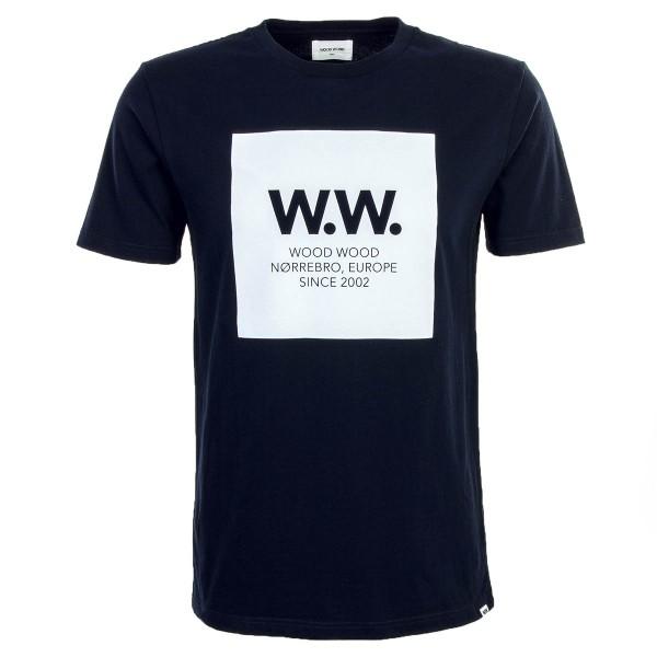 Wood Wood TS WW Square Dark Navy White