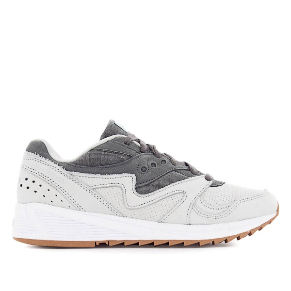 Saucony Grid 8000 Lth Grey Dark Grey
